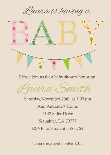 baby shower invitations gender neutral baby shower invite, shabby chic style with bodysuit banner, DIY PRINTABLE