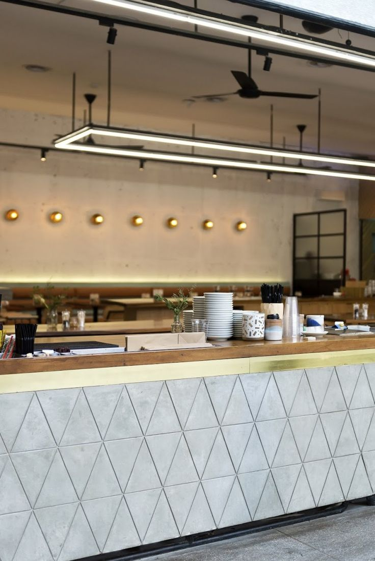 Bar Counter. Modern industrial style cafe - St. ali, Bandung. Designed by Assembly Design Office