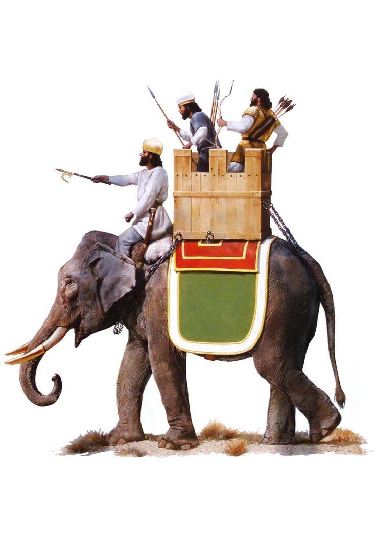 """Sassanian war elephant • Sassanian clibanarius, 6th C. AD"""""""