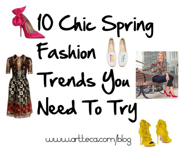 """""""10 Chic Spring Fashion Trends You Need To Try"""" by artteca ❤ liked on Polyvore featuring Casadei, Oscar de la Renta, Kurt Geiger, Soludos, Spring and ontheblog"""