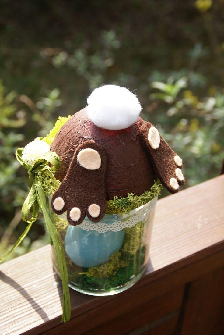 rabbit in a jar :) easter diy