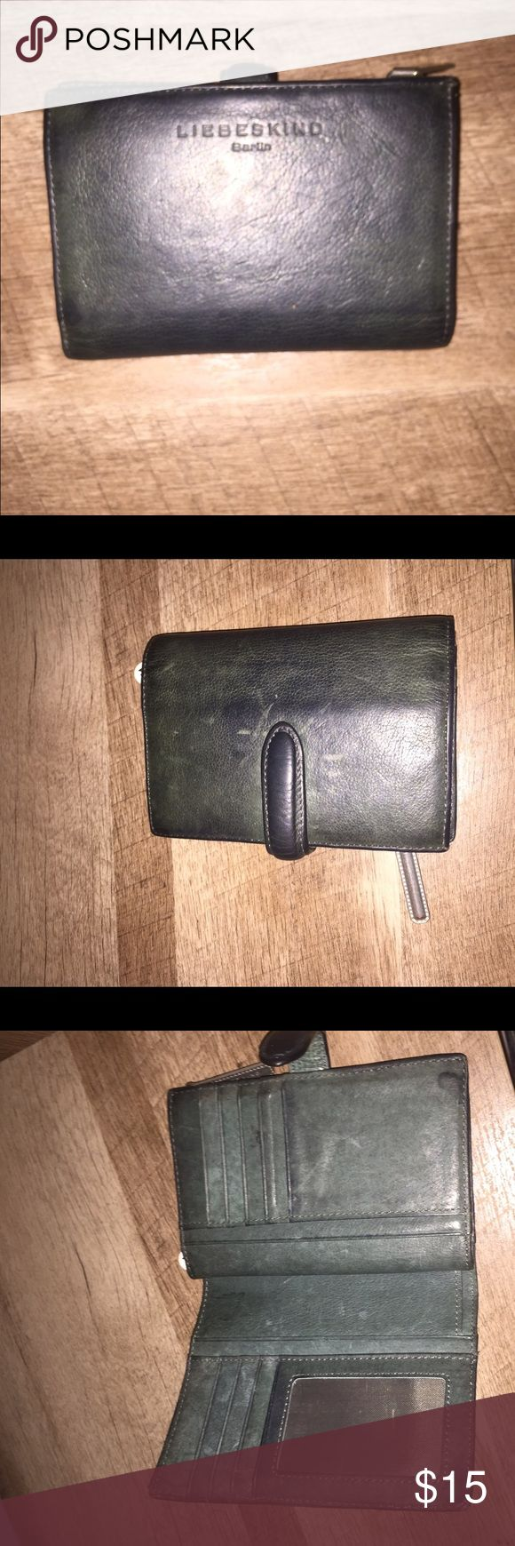 Army Green Liebeskind Wallet Army green Liebeskind wallet with button latch, 8 card slots, 1 I.D. slot, and 8 more slots for money and hidings 😉 Liebeskind Bags Wallets