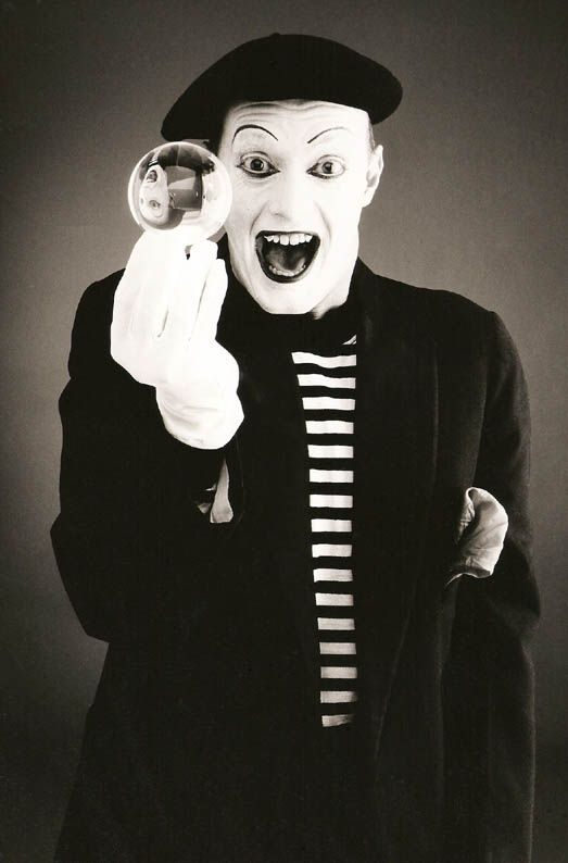 Andy Sinclair as his  French Mime Character