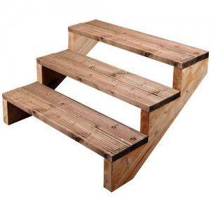Best 3 Tread Decking Stair Stringer 245Mm X 868Mm Stairs 640 x 480