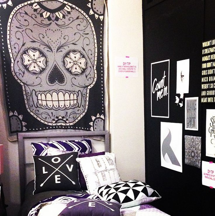 SUGAR SKULL KNIT THROW Hang A Throw On Your Wall As Tapestry To Complete Transform