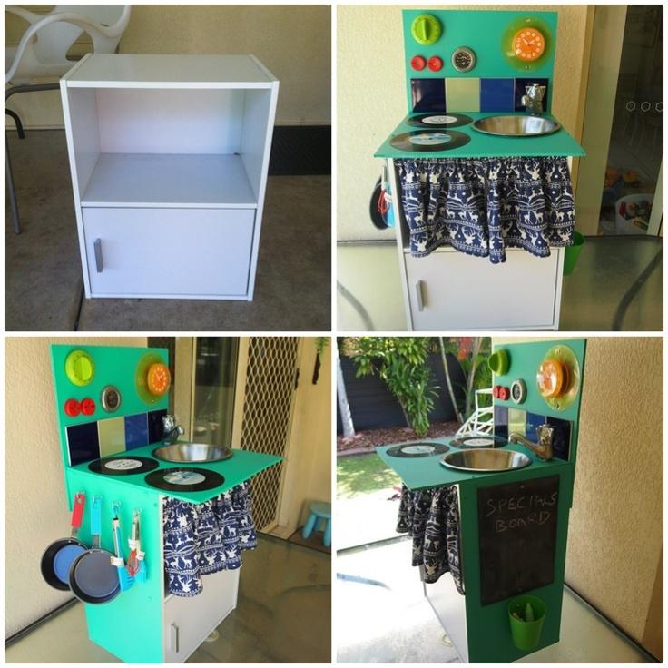 DIY Kids kitchen- before & after