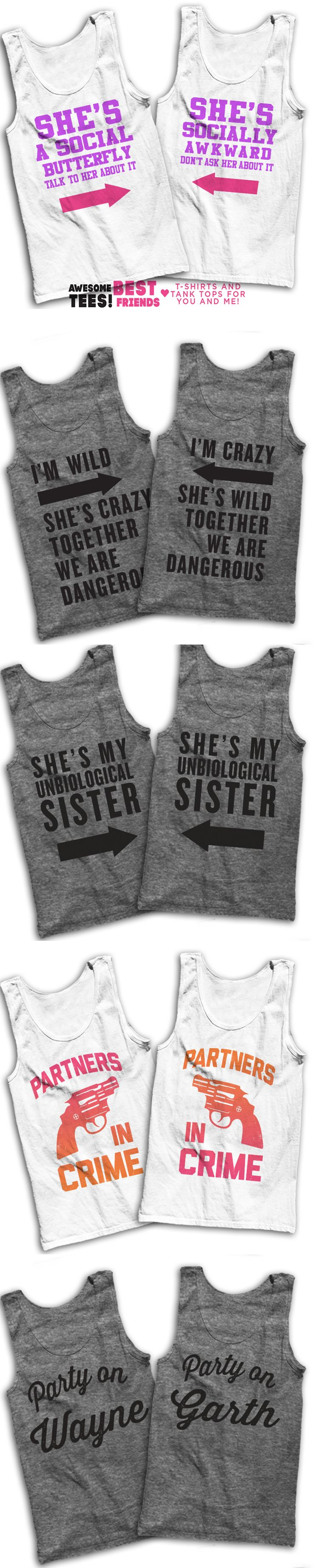 5 Awesome Matching T Shirts For You And Your Best Friend! While you're in check out our sarcastic lazy shirts for that cheat day, or grab a matching shirt for you and your bff!