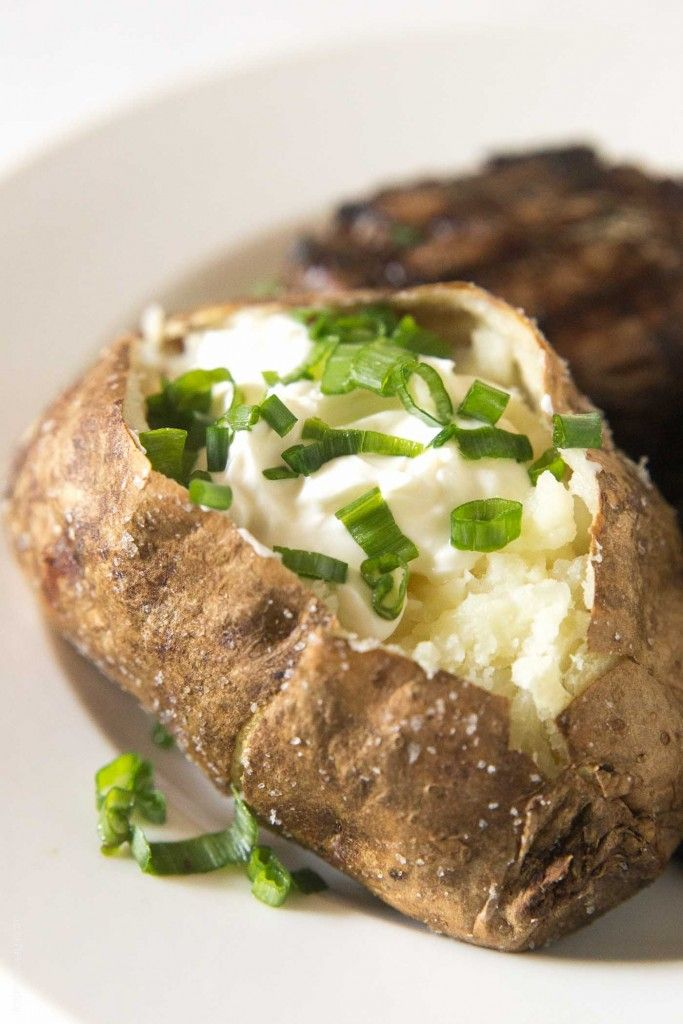 Steakhouse Style Baked Potato - The BEST baked potatoes I've ever had!
