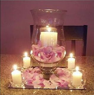 302 best candle wedding centerpieces images on pinterest wedding diy centerpiece this is another easy centerpiece arrangement all you need for this one is a pretty vase pillar candle for center rose petals junglespirit Images