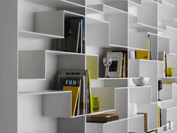 Wall Shelving Units with White Shape