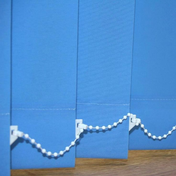 Made to measure light blue vertical blinds ...