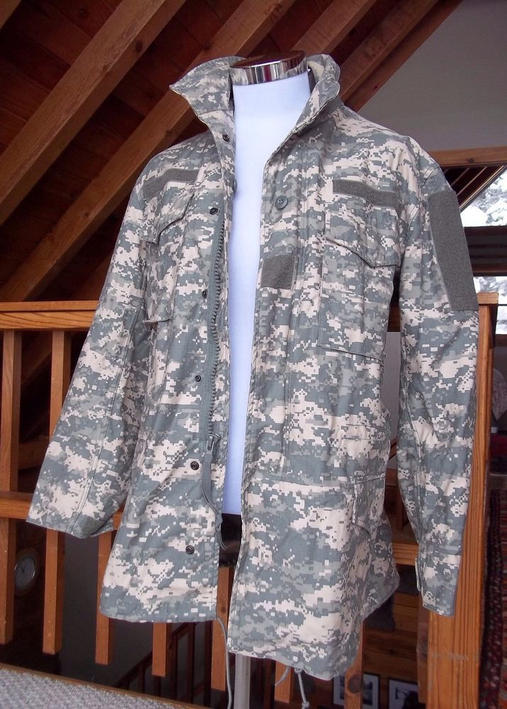US ARMY UNIFORM digital camo combat Jacket Camouflage US Army Jacket MEDIUM #TruSpec
