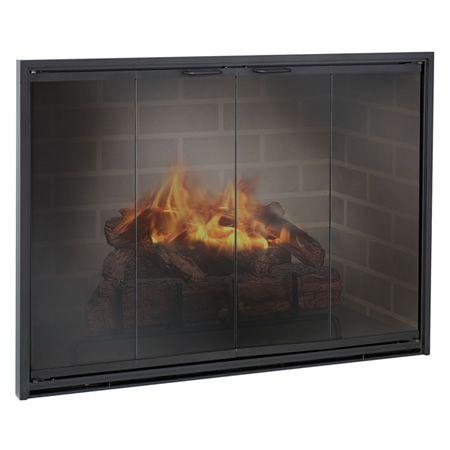 Stiletto Masonry Aluminum Fireplace Glass Door   WoodlandDirect.com: Fireplace Doors, Design Specialties