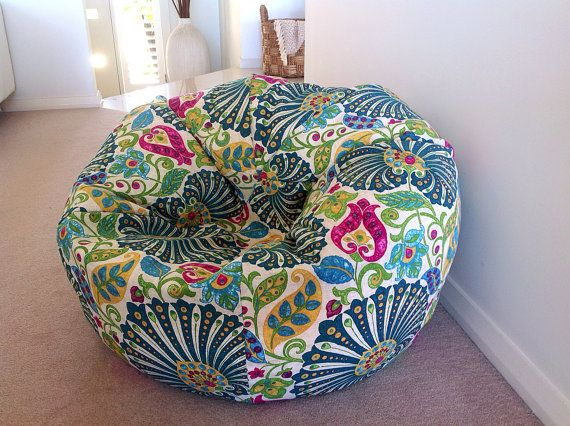 Colourful Bean Bag Mediterranean Peacock by IslandHomeEmporium