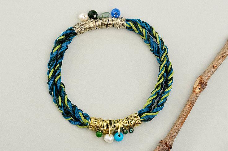 Custom cord bracelet, blue petrol bangle, macrame braided cuff, multicolor jewelry, stacking bracelet, friendship bracelet, friend gift idea by ColorLatinoJewelry on Etsy