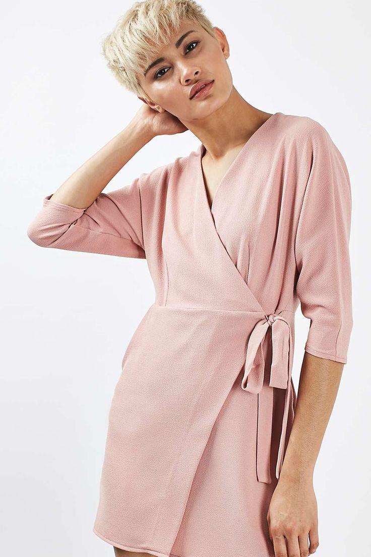 PETITE Batwing Wrap Mini Dress - Topshop
