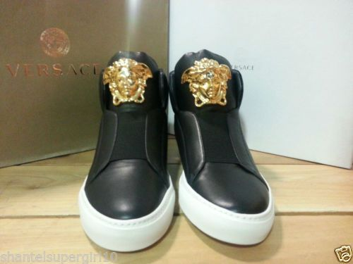 Versace men\u0026#39;s medusa slipon hightop leather sneakers sz 41 prada ...