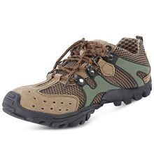 Mens Professional Breathable Mesh Skid-Resistant Lightweight Lace-up Hiking Shoes