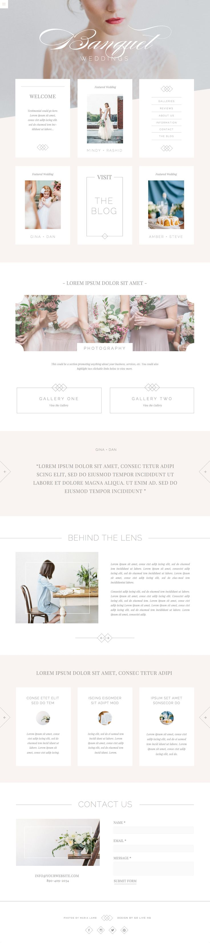 51 best Website Themes Designs images on Pinterest