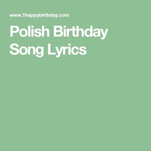 Best 25+ Birthday Song Lyrics Ideas On Pinterest