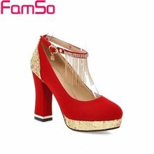 Size34-43 2017 Gold Glitter Sapatos de Casamento Das Mulheres Bombas Preto vermelho com Tira No Tornozelo Rhinestone Bombas Outono Saltos Altos das Mulheres PS2020(China (Mainland))
