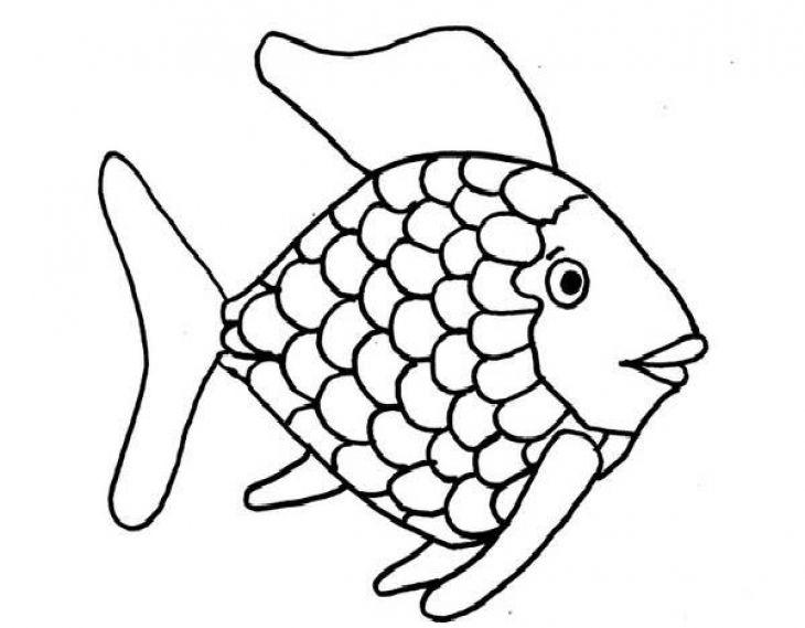 Kids Printable Rainbow Fish Coloring Page Free