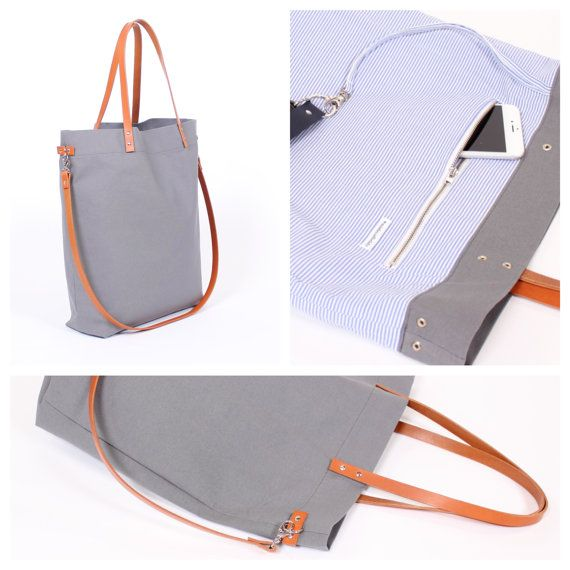 Classic tote bag Greta is made easy-grip cotton (canvas) with genuine leather straps. The vegetable tanned leather straps are very robust and resistant and are always flexible with the time.  Greta is also complete with a patterned cotton fabric.  There is a large zipper pocket for mobile phone, money and bells and whistles inside the bag. In addition even a band with carabiner is located inside the bag to fit the key. No more desperate key search ;)  Thanks to the short leather straps Greta…