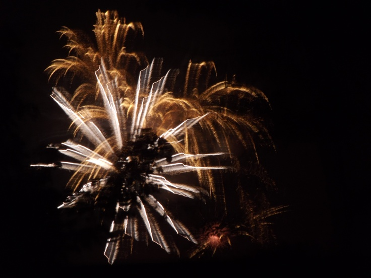 Swanage Fireworks - captured with a two second exposure.
