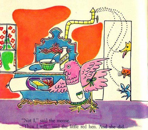 The Little Red Hen, illustrated by Andy Warhol, Best In Children's Books, Nelson Doubleday, 1958.