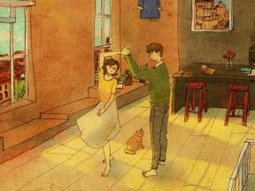 Korean artist puuung1 illustrates little acts of love in our daily lives - I really like this collection.