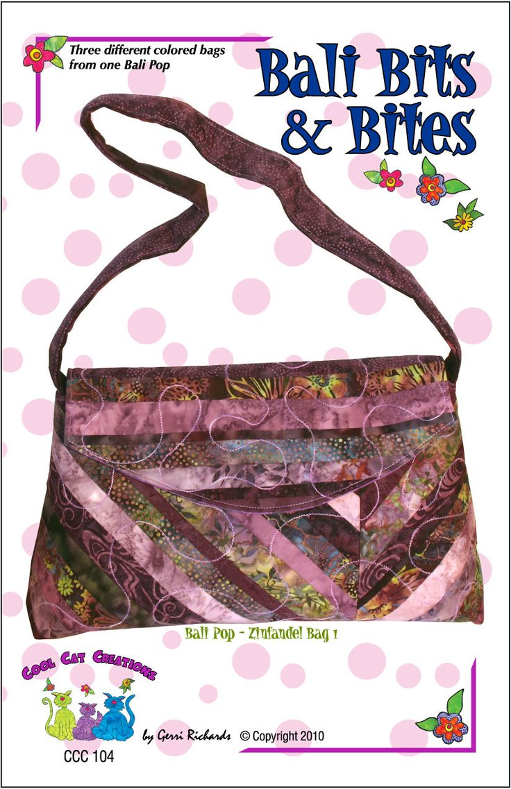 Index of library images illusions best - Jelly Roll Friendly Bag Purse Pattern By Cool Cat Creations Bag Pattern Easy Pattern Sewing