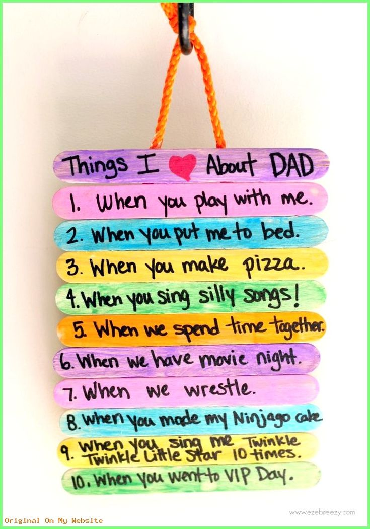 Idee Cadeau Fete Des Peres 2019 – Father's Day Gift Idea: Top 10 Things I Love About Dad  #Ca…