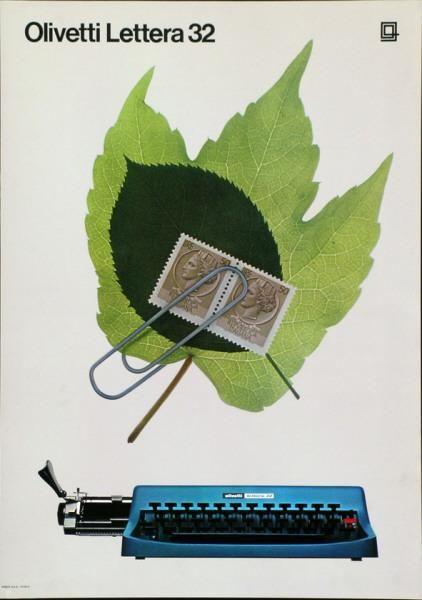 Walter Ballmer Olivetti Lettera 32-Plakat