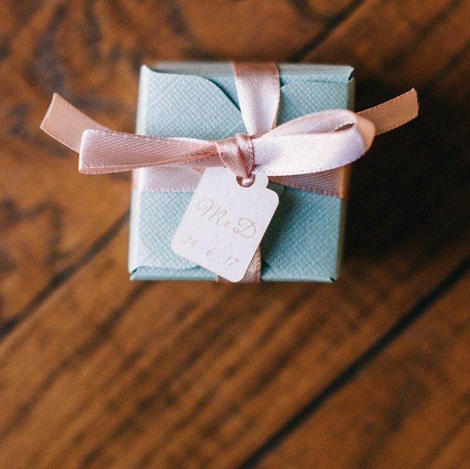 Bomboniere matrimonio menta e pesca - Mint & Peach wedding favors - Homemade