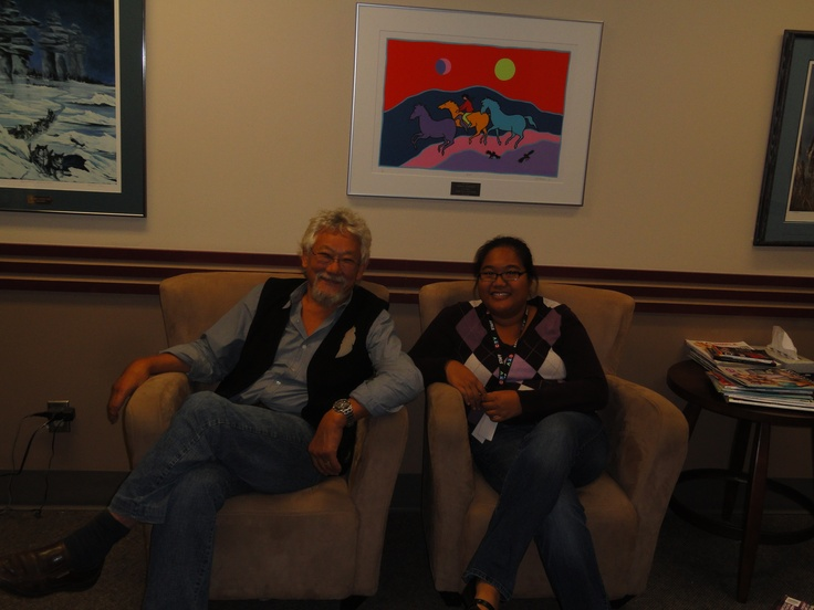In the greenroom with David Suzuki and producer Michelle Garcia