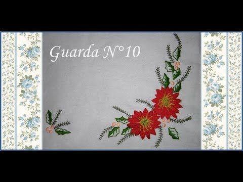 ♥ Camino de mesa Navideño ♥ Bordado Mexicano ♥ Guarda N°10 ♥