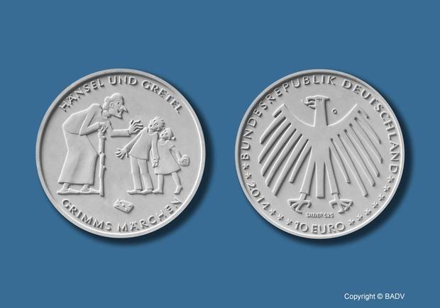 """10 Euro-Gedenkmünze """"Hänsel und Gretel"""""""