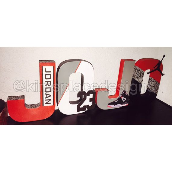 michael jordan letters jordan party decor jordan theme paper mache letters smash cake session letter set