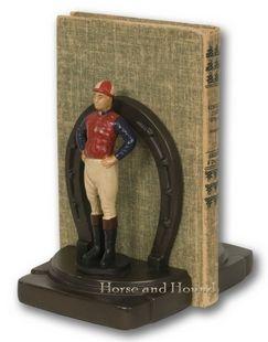 Lucky Jockey Bookends, Horse & Hound