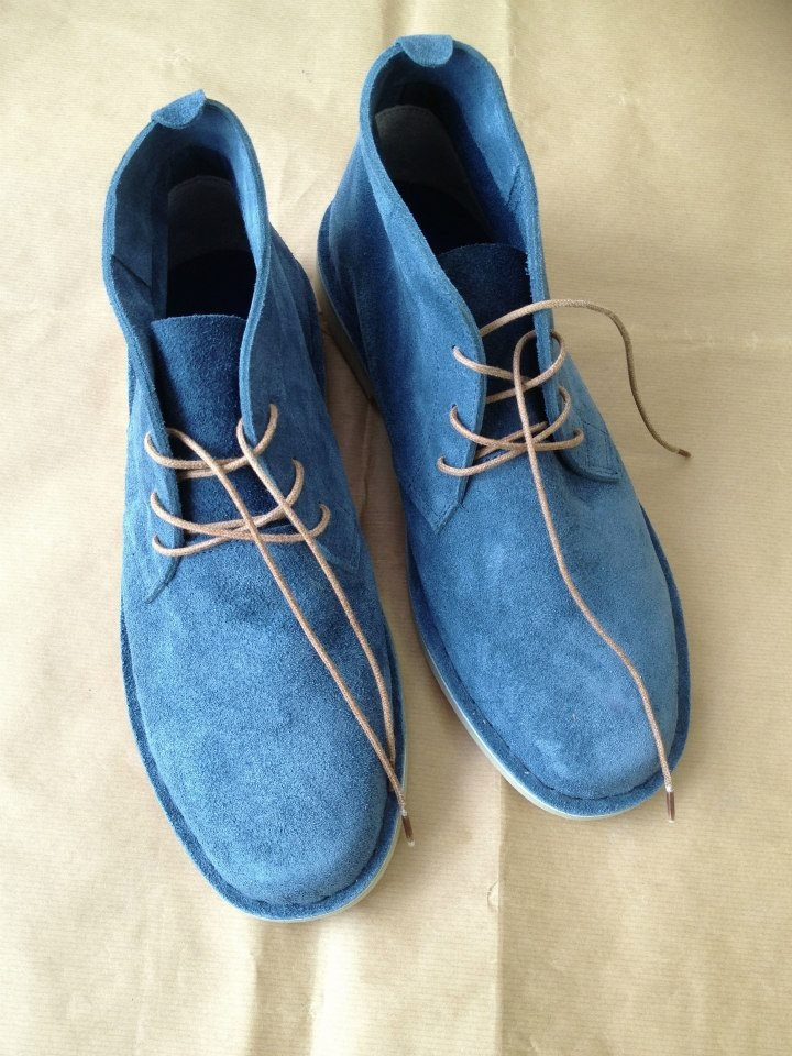 blue ink suede boots - 'vellies' at KINGDOM