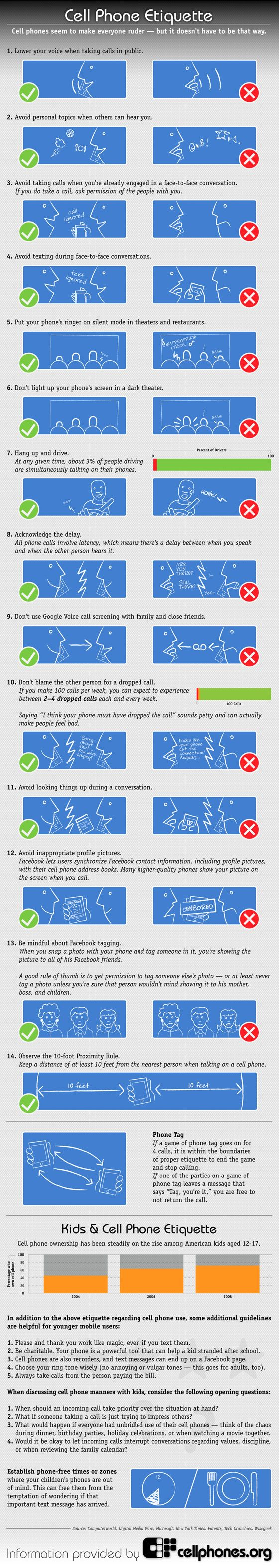 Cell phone etiquette. Learn it. Love it. Live it, and for the love of whatever you find holy, spread it.