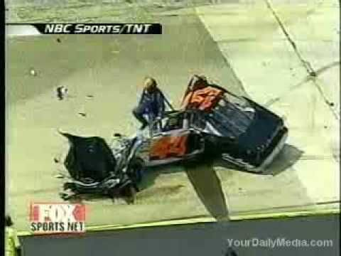 Alomost Fatal NASCAR Crash