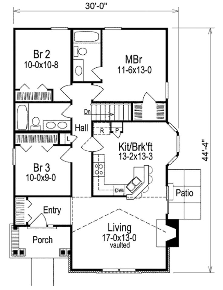Best 25 30x40 house plans ideas on pinterest sims 3 for 40x40 2 story house plans