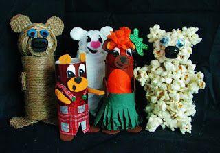 Pomysły plastyczne dla każdego DiY - Joanna Wajdenfeld: Zabawki z rolek - misie
