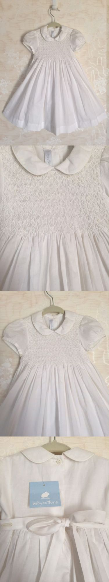 Dresses 163351: Nwt Baby Cottons Toddler Girls Smocked Dress Short Sleeve White Sz 18 Mos $79 -> BUY IT NOW ONLY: $34.99 on eBay!