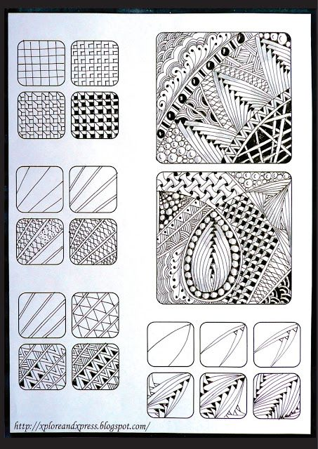 Zentangle Challenge # 52 | Xplore & Xpress