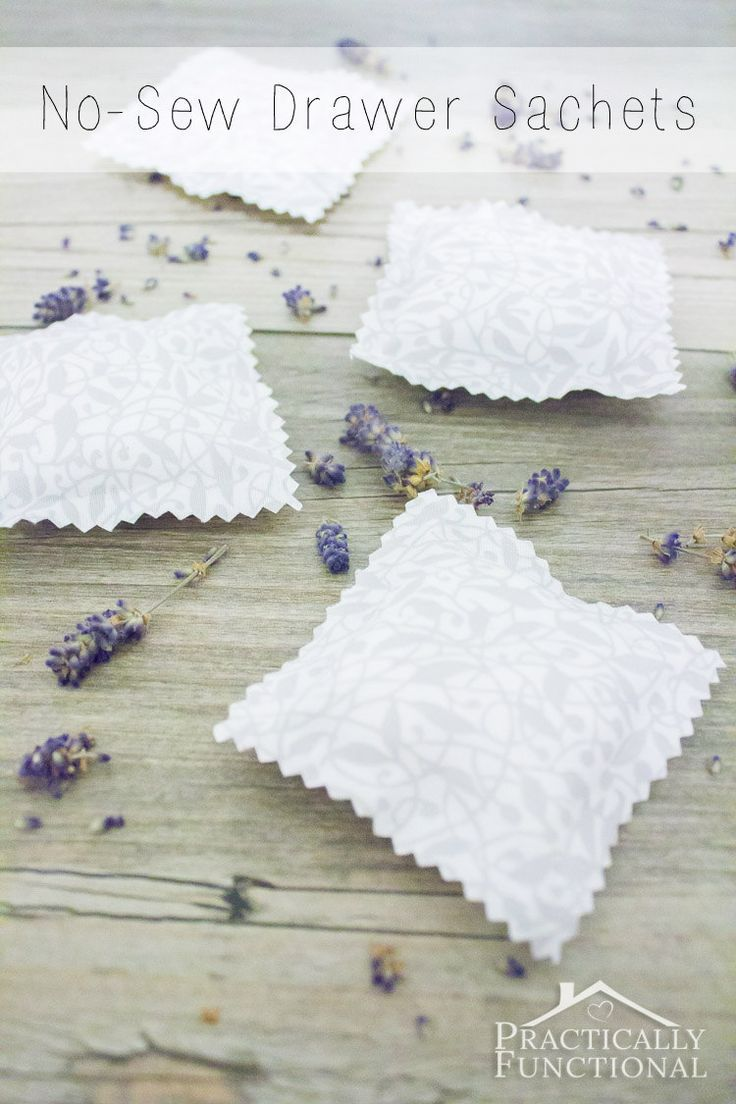 Make your own no-sew drawer sachets in any scent; perfect quick and easy handmade gift idea!