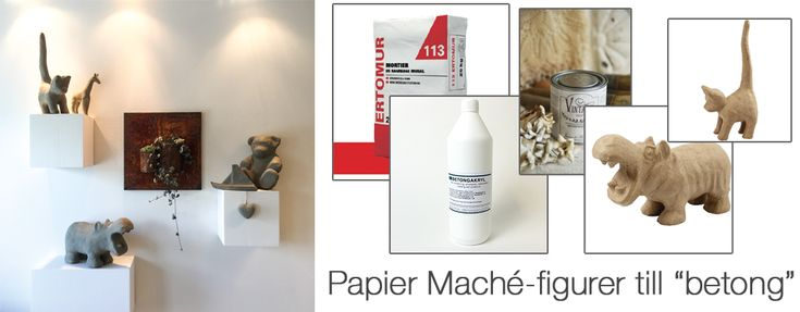 Få papier maché-figurer att se ut som de vore tillverkade i betong. Guiden läser du här!