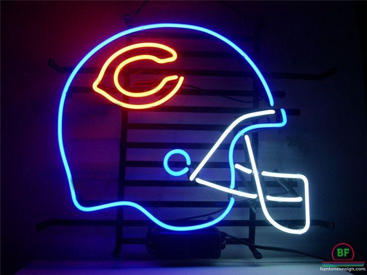 Chicago Bears Helmet Neon Sign NFL Teams Neon Light