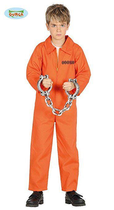 Strafling Kostum Fur Kinder Jungen Overall Gefangnis Gefangener
